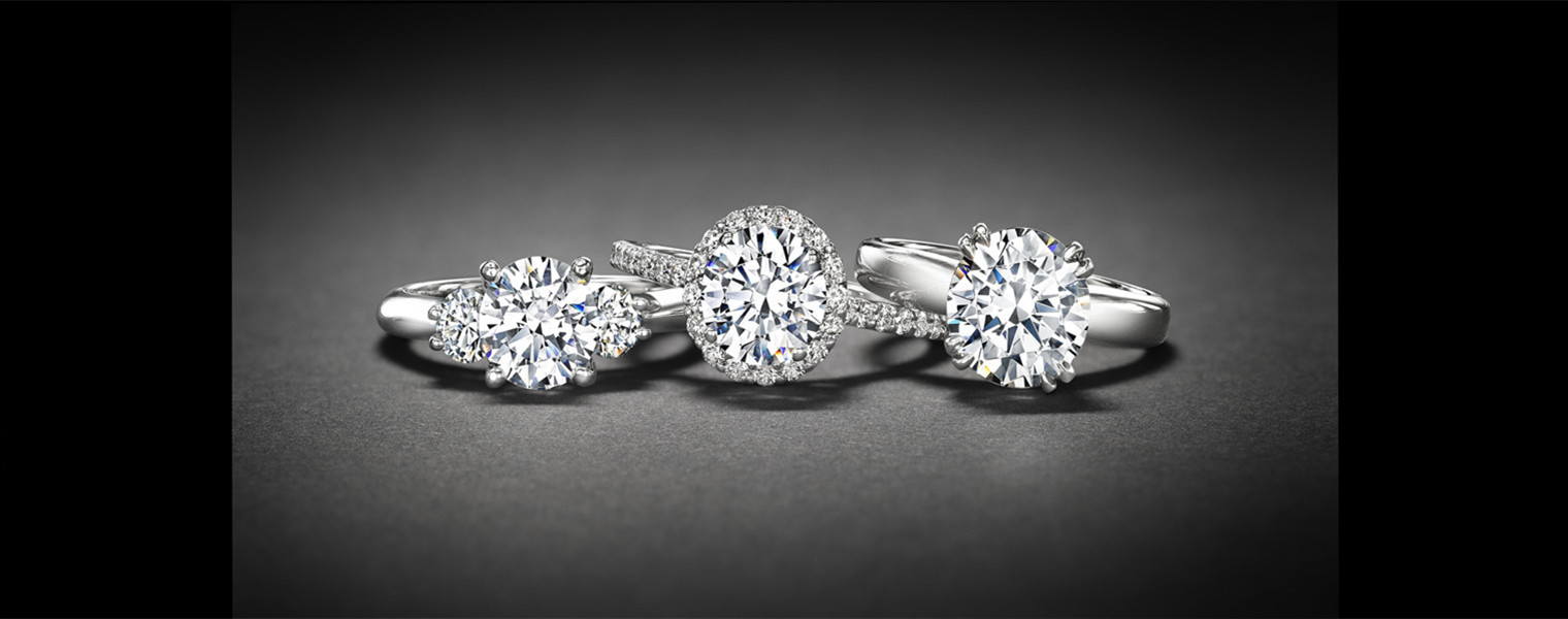 Platinum White Diamond Rings