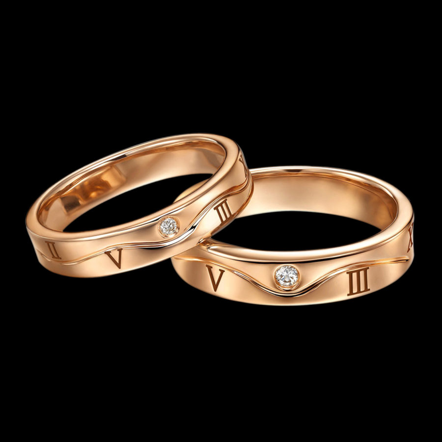 Rose Gold Diamond Couple Rings
