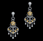 Platinum Yellow Diamond Earrings
